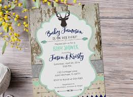 Hobby Lobby Wedding Invitations Awesome Deer Baby Shower Invitation Rustic Boy