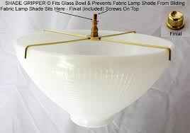 Uno Fitter Replacement Lamp Shade by No Slide Shade Gripper Prevents Fabric Shade Sliding Lamp Shade Pro