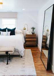 Bedroom With Leaning Floor Mirror