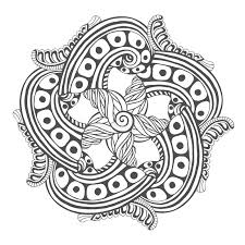 Download Mandala For Coloring Book Pages Vector Ornament Pattern Tattoo Design Stock