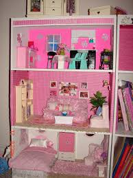 Barbie Living Room Set by Diy Barbie House From A Shelf A And A Glue Gun