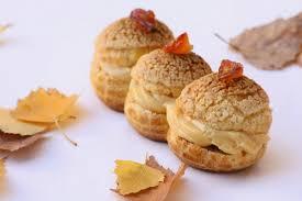 choux pommes façon tatin et crème caramel au beurre salé