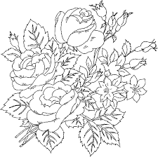 Floral Coloring Pages Roses