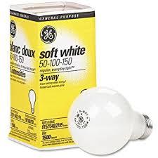 ge lighting 97494 soft white 3 way bulb 50 100 150 watt