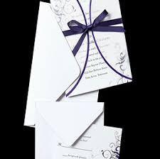 Purple Swirl Vellum Jacket Wedding Invitations