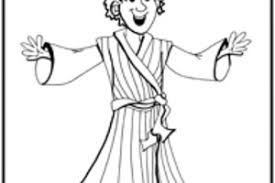 Printable Coloring Page Joseph Coat Of Colors