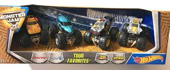 Hot Wheels Monster Jam Tour Favorites, Scale 1:64, 4 Trucks Per ... Maximum Destruction Monster Truck Toy List Of 2017 Hot Wheels Jam Trucks Wiki Battle Playset Walmart Intended For 1 64 Max D Yellow 2016 New Look Red Includes Rc Remote Control Playtime Morphers Vehicle Jual Stock Baru Monster Jam Maxd Revell Maxd Model Kit Scratch Catchoftheday