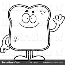 Bread clipart coloring page 12