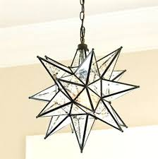 large star pendant light with glass pottery barn and 6 c on
