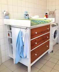 Hemnes 3 Drawer Dresser As Changing Table by Wickeltisch Hemnes Diaper Changing Table Ikea Hackers Ikea