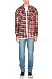 fear of god flannel shirt in red lyst