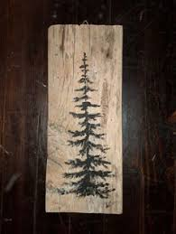 Reclaimed Barn Wood Art Wall Hanging By Linda Curran PAINT IDEA Diy Tree PaintingChristmas PaintingPallet