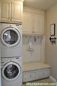 Stackables With Mud Room Bench Small Laundry