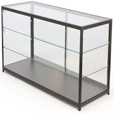 60 Retail Display Case W Side Lights Sliding Door Ships Assembled