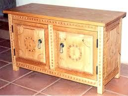 Mexican Colonial Furniture Chest Closed Antique