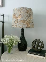 DIY Lampshade I Like These Lamps But They Needed A Little Pizzazz Im Still Working On Getting Our Bedroom Decorated And When Found This Fabric