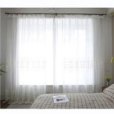 moderne gardinen mit gestickten spitzen in weiß für