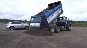 Greely Sand & Gravel Unloading A Full Tandem Load Of Crushed Stone ...