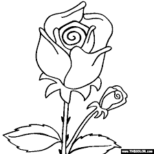 More Images Of Rose Flower Coloring Pages