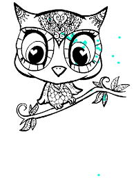 Owl Cartoon Character Coloring Page