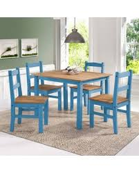 Manhattan Comfort York Dining Table Set With 4 Chairs