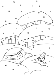 Click To See Printable Version Of Winter Weather Coloring Page