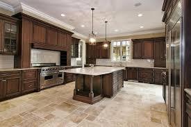kitchen cabinets with light countertops espresso walnut