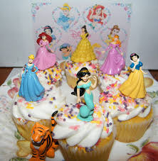 Amazon Disney Princess Set of 7 Cake Toppers Cupcake Toppers
