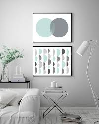 set of 2 horizontal prints printable set geometric