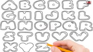 How to Draw Bubble Letters Step by Step Easy for Beginners Kids