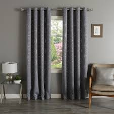 White And Gray Blackout Curtains by Aurora Home Drapes U0026 Curtains With Free Shipping Sears