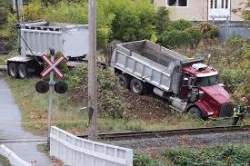 100 Dump Trucks Videos VIDEO Runaway Dump Truck Ends Surrey Crash Spree In Ditch Surrey