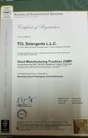 bureau tcl tcl ru gmp certificate