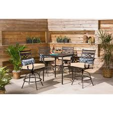 Hanover Montclair 5-Piece High-Dining Patio Set In Country Cork With 4  Swivel Chairs And A 33-In. Counter-Height Dining Table Phi Villa Height Swivel Bar Stools With Arms Patio Winsome Stacking Chairs Awesome Space Heater Hinreisend Fniture Table Freedom Outdoor 51 High Ding 5 Piece Set Accsories Ashley Homestore Hanover Montclair 5piece Highding In Country Cork With 4 And A 33in Counterheight Tall Ideas Get The Right For Trex Premium Sets Shop At The Store Top 30 Fine And Counter