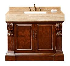 42 inch single bathroom vanity dark cherry finish with carrara
