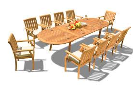 Teak Dining Set: 10 Seater 11 Pc: 117