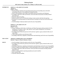 Medical Lab Assistant Resume Samples | Velvet Jobs Top 8 Labatory Assistant Resume Samples Entry Leveledical Assistant Cover Letter Examples Example Research Resume Sample Writing Guide 20 Entrylevel Lab Technician Monstercom Zip Descgar Computer Eezemercecom 40 Luxury Photos Of Best Of 12 Civil Lab Technician Sample Pnillahelmersson 1415 Example Southbeachcafesfcom Biology How You Can Attend Grad