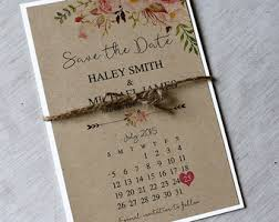 Rustic Save The Date Floral Boho Bohemian Style