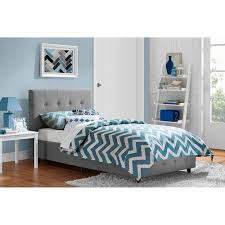 Rose Linen Upholstered Bed Multiple Sizes and Colors Walmart