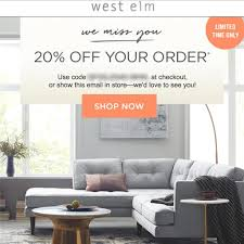 20% Off WEST ELM Entire Purchase Coupon Code FAST In Stores ... Indiana Beach Amusement Park Coupons Caseys Restaurant Misfit Cosmetics Discount Code Delivery Beer Cafe Pottery Barn Coupon 15 Off Percent Offer Promo Deal Pottery 20 Off A Single Item Today At Glam Glow Coupon Barn Discounts And See Our Latest Sherwinwilliams Paint Promotion Pottery Best Discount Shop Dobre Pumpkin Nights Auburn 27 Mdblowing Hacks Thatll Save You Hundreds Fniture Shipping Coupon Pbteen Pedigree Dog Food Online