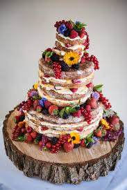 Naked Wedding Cake Ideas Sponge Bare Layer Victoria Berries Inspiration