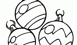 Free Christmas Ornaments Decorations Coloring Page
