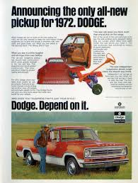 100 1972 Dodge Truck Pickup Ad Automotive Advertising Trucks