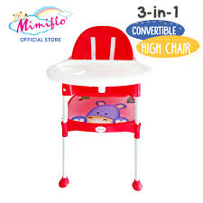Mimiflo® 3-IN-1 Convertible High Chair (Red)