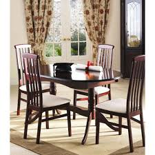Caxton Furniture York Oval Extending Dining Set With Slat Back Chairs