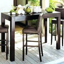 table cuisine bois exotique grande table haute table haute bar cuisine agrandir ambiance