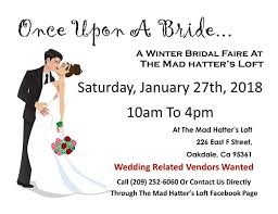 Once Upon A Bride Winter Bridal Faire At The Mad Hatters Loft