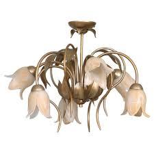 deckenleuchte ø58cm 6x e14 in messing floral decke leuchte