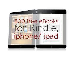 600 free eBooks for Kindle iphone ipad