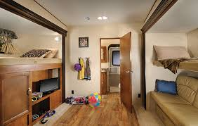 What We Love The Wildwood Hertiage Glen 356QB Fifth Wheel Has One Of Most Spacious Bunkhouse With 2 Slides And Its Own Bathroom